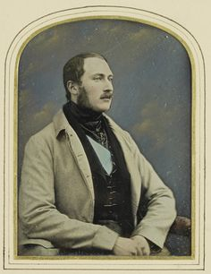 Prince Albert (1819-61) - Hand-colored daguerreotype taken of the Prince when he was 29. - 1848