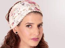 Weiß Kopftuch Bandana mit Blumenprint