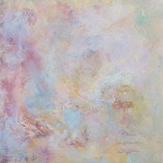 Serenity, Interrupted.  22 x 22 oil and cold wax.  #kunst #arte #abstractartist #karibell #abstractart #abstractlandscape #abstractartist #denverart #denverartist #abstractoilpainting