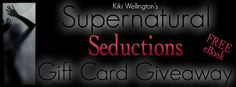 She's torn between wanting the entity out of her home and craving more orgasmic encounters with her ghost lover. Supernatural Seductions by Kiki Wellington ‪#‎GiftCard‬ ‪#‎GIVEAWAY‬ ‪#‎FREE‬ eBook http://romancenovelgiveaways.blogspot.com/2016/07/supernatural-seductions-by-kiki.html