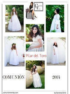 PILAR DEL TORO impresionantes vestidos de Comunión | COMUNIÓN TRENDY :: Mil ideas para organizar una Primera Comunión :: Vestidos de comunión, Recordatorios, Trajes de Comunión