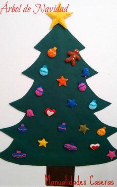 Manualidades Caseras Inma_ Arbol de Navidad de fieltro