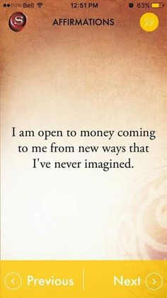 Money and Law of Attraction - Affirmations The Astonishing life-Changing Secrets of the Richest, most Successful and Happiest People in the World Positive Thoughts, Positive Vibes, Positive Quotes, Wealth Affirmations, Law Of Attraction Affirmations, Affirmations For Money, Positive Affirmations For Success, Inspirierender Text, Usui Reiki