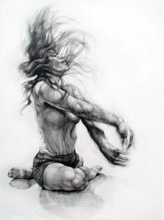 Dance drawing - series 2 by Karolina Szymkiewicz, via Behance Movement Drawing, Dancer Drawing, Body Drawing, Drawing Artist, Sketch Painting, Life Drawing, Body Sketches, Anatomy Sketches, Art Drawings Sketches