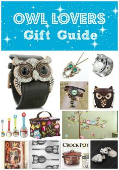 Would like too many to pin separately--so here's the whole kit 'n kaboodle:  Owl Lovers Gift Guide, compliments of A Spectacled Owl blog.