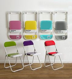 Pantone folding chairs @Katie Fenton @Justin Ford
