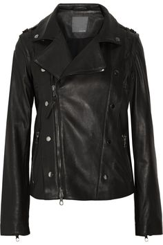 LOT78  Riley leather biker jacket