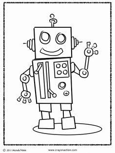 Waving Robot | Free Coloring Page