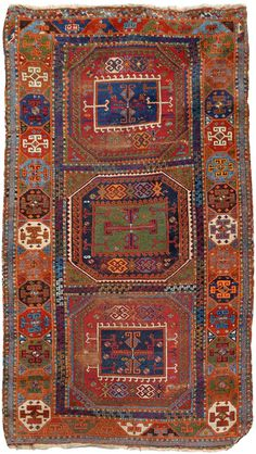 Western Anatolian village rug, probably BERGAMA, 19th century, 200 x 111 cm.