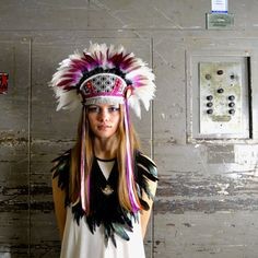 Flourish  Handmade Feather Headdress by Hapuska on Etsy, £196.00