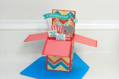 Pop up Circus card featuring Dream Pop papers and the new Big Top stamp set, C1580