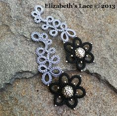 LOVE these tatted earrings from Elizabeth's Lace!