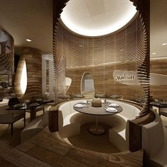 Marriott - Serendipity by Marco Marotto, via Behance Restaurant Seating, Restaurant Lighting, Restaurant Concept, Restaurant Furniture, Cafe Restaurant, Bar Interior, Restaurant Interior Design, Interior Design Living Room, Commercial Design