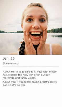 Profiles examples for dating