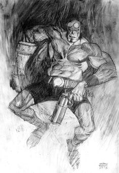 Hellboy Pencil Commission by *Andrew-Robinson on deviantART