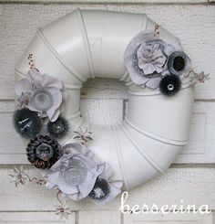 Nifty Metal Wreath Tutorial- Just be sure to use upcycled materials!