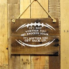 Football rustic wood sign boys room decor by everydaycreationsjen kids spor Football Rooms, Football Bedroom, Football Signs, Football Crafts, Sports Signs, Football Decor, Football Spirit, Football Gift, Football Wreath