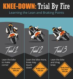 Learning Knee Down Riding Technique Motorcycle Paint Jobs, Motorcycle Tips, Motorcycle Quotes, Motorcycle Design, Bike Riding Tips, Beginner Motorcycle, Old Motorcycles, Dirtbikes, Sport Bikes