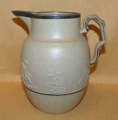 LARGE HOLLINS CLASSICAL FIGURES SPRIG MOULDED JUG C1800  | eBay Bottle Vase, Vintage Flowers, Stoneware, Coffee Cups, Ceramics, Antiques, Ebay, Ceramica, Antiquities