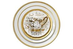 Blended White & Gold Place Setting, S/5