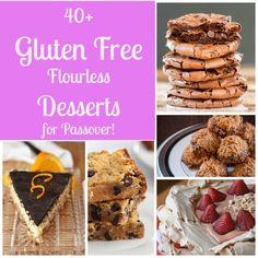 40+ Flourless Gluten Free Desserts for Passover