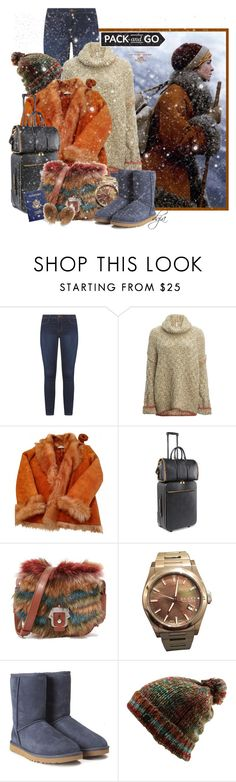 """""""Pack and go!!!"""" by dgia ❤ liked on Polyvore featuring Hermès, Dorothy Perkins, Free People, Yves Salomon, STELLA McCARTNEY, Paula Cademartori, Gucci, UGG, Volcom and Bogner"""