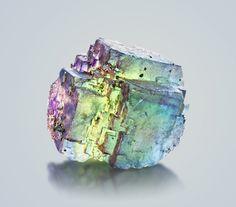 Rainbow Fluorite - Bergmännisch Glück Mine, Frohnau, Erzgebirge, Saxony, Germany