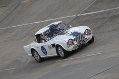Fantastic day on the Montlhery Banking with my racing TR4 at Les Grandes Heures Automobiles,  September 2015