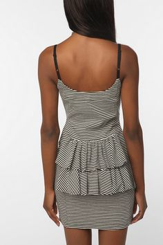 Betsey Johnson Pink Label Ribbed Tail Feather Tank Dress  #UrbanOutfitters