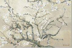 Blühende Mandelbäume, San Remy ca. 1890 (braun) Leinwand von Vincent van Gogh - bei AllPosters.ch