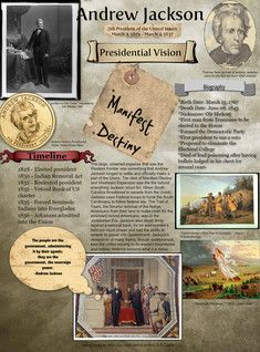 Andrew Jackson was the seventh President of the United States Born… 3rd Grade Social Studies, Social Studies Activities, Teaching Us History, History Teachers, American Presidents, American History, 8th Grade History, History Class, Jackson School