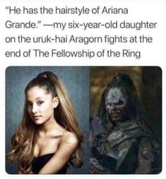 44 Of Today's Freshest Pics And Memes Well all orcs look alike. And that would explain why her music sounds like the chant during helmsdeep Fellowship Of The Ring, Lord Of The Rings, Saga, O Hobbit, Hobbit Funny, Aragorn, Gandalf, Middle Earth, Lotr