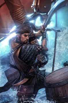 concept art, Sinbad by Admira Wijaya, fantasy illustration Fantasy Warrior, Fantasy Rpg, Medieval Fantasy, Fantasy Artwork, Fantasy Fiction, Character Portraits, Character Art, Sinbad The Sailor, Terra Nova