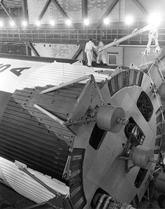 erection preparation - upper link rotation brace assembly being secured into place, March Apollo Space Program, Nasa Space Program, Nasa Engineer, American Space, Nasa Photos, Apollo Missions, Nasa History, Kennedy Space Center, Space Rocket