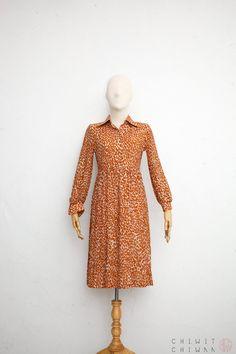 6971e0cc282 70s Vintage Dress Japanese Vintage Dress 70s Shirtdress
