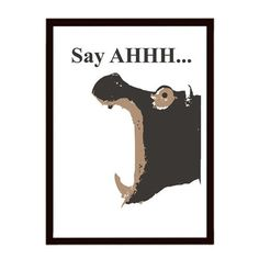 Hippo  Just  Say AHHH by ialbert on Etsy, $25.00