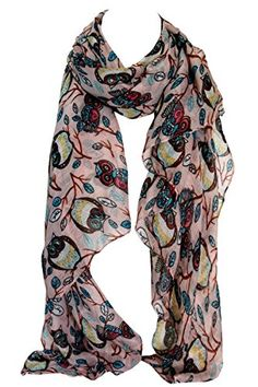 Vintage Owl Print Animal Large Maxi Scarf Wrap Stole Shawl Sarong (Pink) Bullahshah Womens Clothing Stores, Clothes For Women, Beautiful Owl, Vintage Owl, Owl Print, Amazing Photography, Scarf Wrap, Shawl, Animal