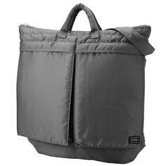 e9a4d6b33ad Porter Tanker 2 Way Helmet Bag. Product Outside  Nylon twill (bonding  finish on polyester side) Inside  Nylon taffeta. Available in Black, Silver  Gray, ...