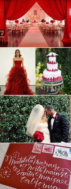 If you love red: You operate by the M.O. that bold is always better. Passionate, fiercely loyal, impulsive, and a natural-born leader, odds are that your wedding will be luxe and dramatic