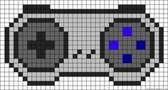 Nintendo controller perler bead pattern