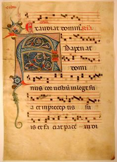 Remains of a Medieval Antiphonal - Folio 18 Verso