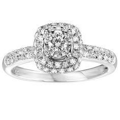 Bague d'Alliance pour dame en en Or Blanc 10K avec Diamants Totalisant 0.38 Carats - Pureté: I  Couleur: GH
