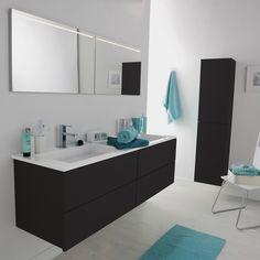 meuble salle de bain cosmo noir