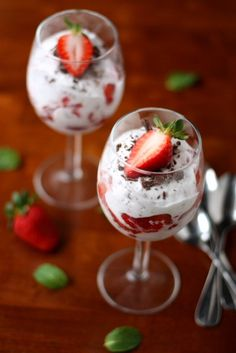 Strawberries and Chocolate Fool  Inspired by The Williams-Sonoma Collection: Dessert