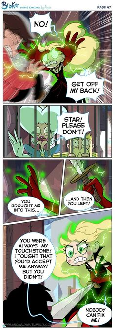 """47th page of """"Broken"""" Comic by Anomalyah on Tumblr - part 1"""