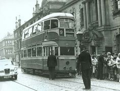 A Glasgow tram outside Clydebank Town Hall, for the Burgh's 'last caur' ceremony on 6 September Glasgow, Edinburgh, 6 September, Town Hall, Roads, Scotland, Street View, City, Pictures