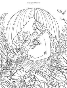 92 Best MERMAID COLOURING PAGES Images On Pinterest