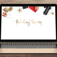 With holiday season around the corner its time to dress up your blog, web or eshop. Chic, eye-catching web banner will help you create a beautiful online presence in no time. Can be used instantly as-is, overlaid with logo, text or to present your products.
