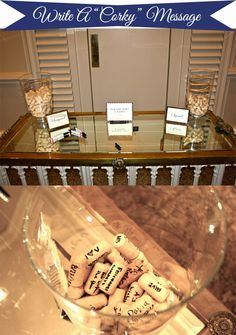 Great idea for a wine-themed wedding! Have guests sign corks instead of a guest book. #WeddingDecor #WineThemedWedding