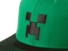 J!NX : Minecraft Creeper Face Premium Snap Back Hat - Clothing Inspired by Video Games & Geek Culture